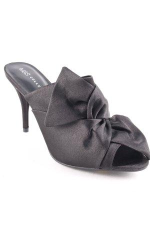 M&S High-Heeled Toe-Post Sandals black street-fashion look