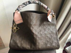 Louis Vuitton Bolso marrón grisáceo Cuero