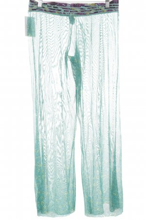 Maaji Pantalone a zampa d'elefante motivo floreale look trasparente