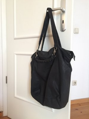 Maanii by Adax Shopper, schwarzes Leder