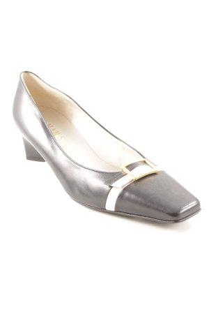 Mab Studio Loafers zwart-wit elegant