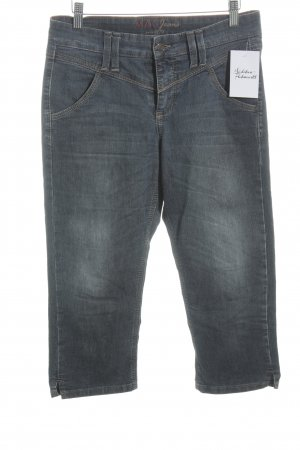 Mac 3/4 Jeans blau Washed-Optik