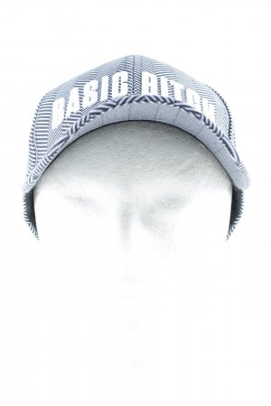 Mac Basecap schwarz-weiß Fischgrätmuster Casual-Look