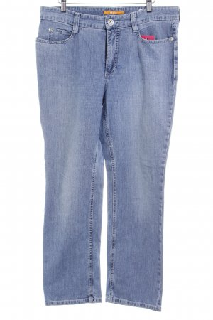 Mac Boot Cut Jeans stahlblau Washed-Optik