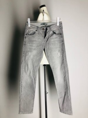 Mac Boyfriend Jeans light grey cotton