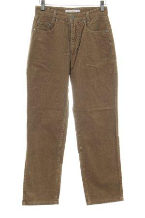 Mac Pantalone di velluto a coste marrone stile da moda di strada