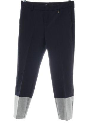 Mac Hoge taille broek zwart-lichtgrijs casual uitstraling