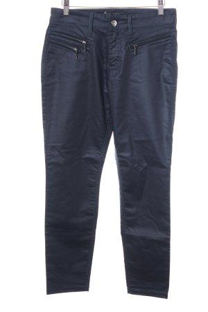 Mac Pantalon taille haute bleu foncé Look de motard