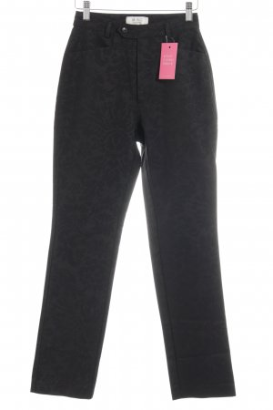 Mac Hoge taille broek zwart bloemen patroon