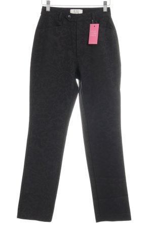 Mac High-Waist Hose schwarz florales Muster