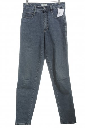 Mac Jeans a vita alta blu stile casual