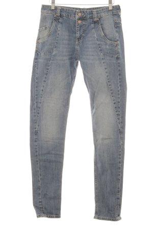Mac Hoge taille jeans blauw simpele stijl
