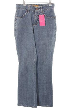 Mac High Waist Jeans stahlblau Casual-Look