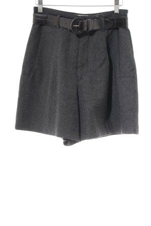 Mac High-Waist-Shorts dunkelgrau Business-Look