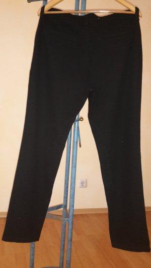 Mac Hoge taille broek zwart Katoen