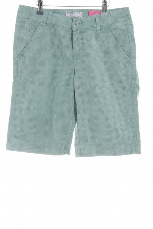 MAC Jeans Bermudas sage green-cadet blue abstract pattern casual look