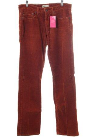 MAC Jeans Corduroy Trousers dark orange casual look