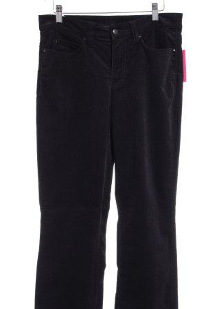 MAC Jeans Pantalone di velluto a coste nero stile casual