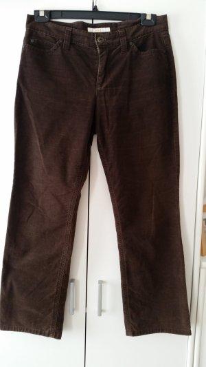 MAC Jeans Pantalon en velours côtelé brun foncé