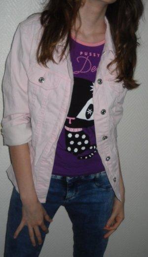 MAC Jeans Jacke nude rosa Hemd Boyfriend Jana Blazer S H M 36 38 40
