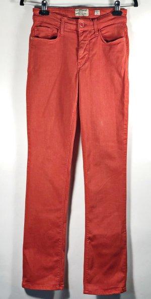MAC Jeans Melanie Gr. 36 rot Damen Hose Denim Elasthan Baumwolle
