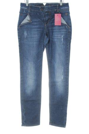 MAC Jeans Jeans cigarette bleu foncé-bleu style déchiré