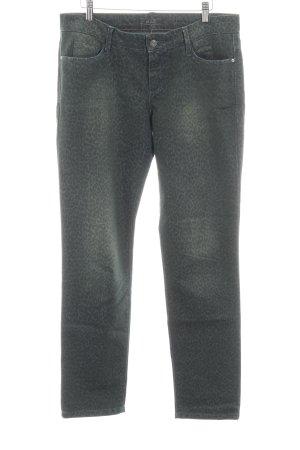 MAC Jeans Röhrenjeans dunkelgrün-grasgrün Leomuster Casual-Look