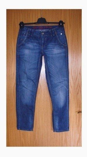MAC Jeans Jeans vita bassa blu neon Tessuto misto