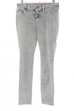 MAC Jeans Skinny Jeans grau Used-Optik
