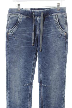 MAC Jeans Sporthose stahlblau-creme Casual-Look