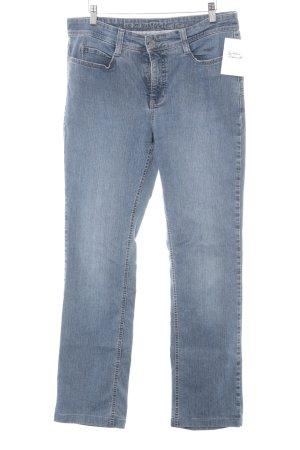 """MAC Jeans Straight-Leg Jeans """"Angela"""" kornblumenblau"""