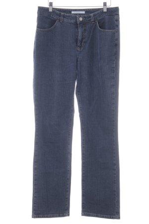 MAC Jeans Straight-Leg Jeans dunkelblau-blassblau Casual-Look