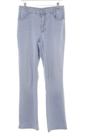 MAC Jeans Straight-Leg Jeans himmelblau-wollweiß Casual-Look