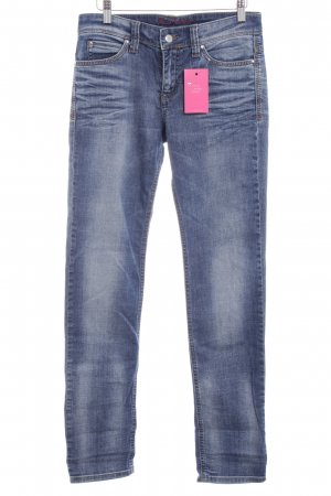 MAC Jeans Straight-Leg Jeans kornblumenblau Washed-Optik