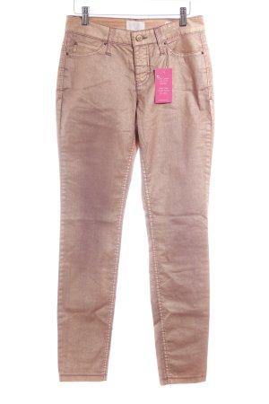 MAC Jeans Stretchhose goldfarben-graulila Farbverlauf Elegant