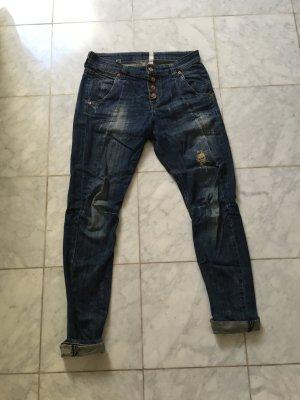 Mac Jeans vordere Knopfleiste, Harem Boyfriend destroyed  Laxy