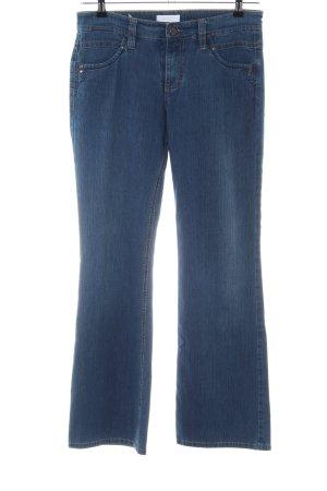 Mac Jeans a zampa d'elefante blu stile casual