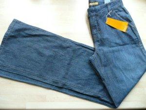 Mac lässige Jeans Flared Leg Jeans blau