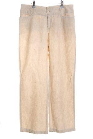 Mac Pantalón de lino blanco puro look casual