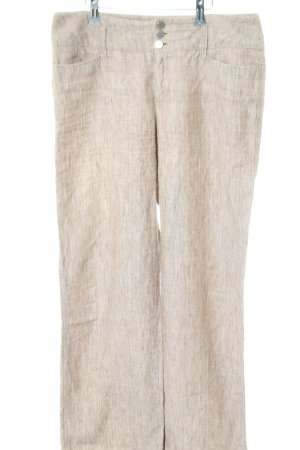Mac Linen Pants natural white flecked casual look