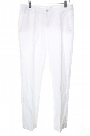 Mac Linen Pants white business style