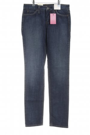 Mac Tube jeans donkerblauw Logo applicatie (leer)