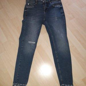 Mac Jeans elasticizzati blu acciaio Cotone