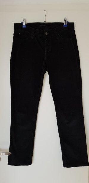 Mac Pantalone di velluto a coste nero
