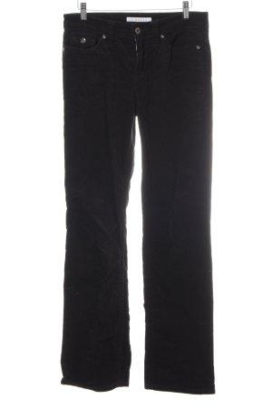 Mac Broek met wijd uitlopende pijpen zwart Jaren 70 stijl