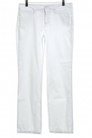 Mac Pantalón de campana blanco look casual