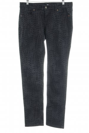 Mac Skinny Jeans anthrazit Animalmuster Casual-Look