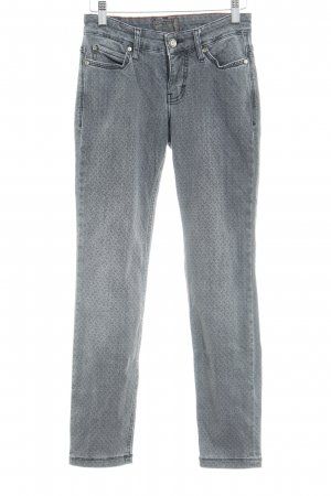 Mac Skinny Jeans grau-dunkelgrau abstraktes Muster Casual-Look