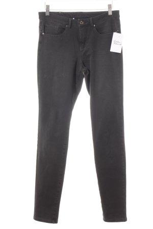 Mac Skinny Jeans schwarz klassischer Stil