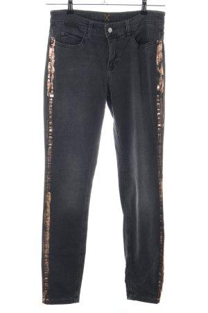 Mac Slim Jeans hellgrau-goldfarben Casual-Look
